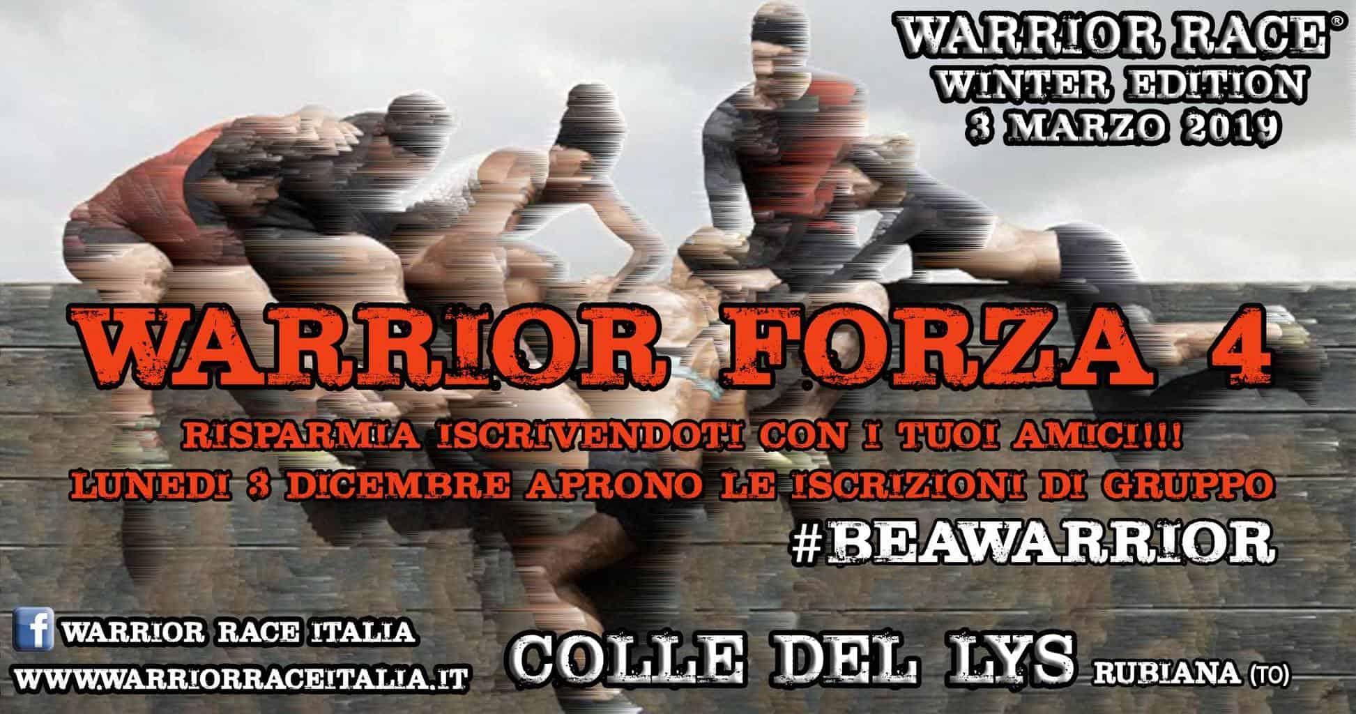 Warrior Winter 2019 – Apertura Iscrizione  A GRUPPI