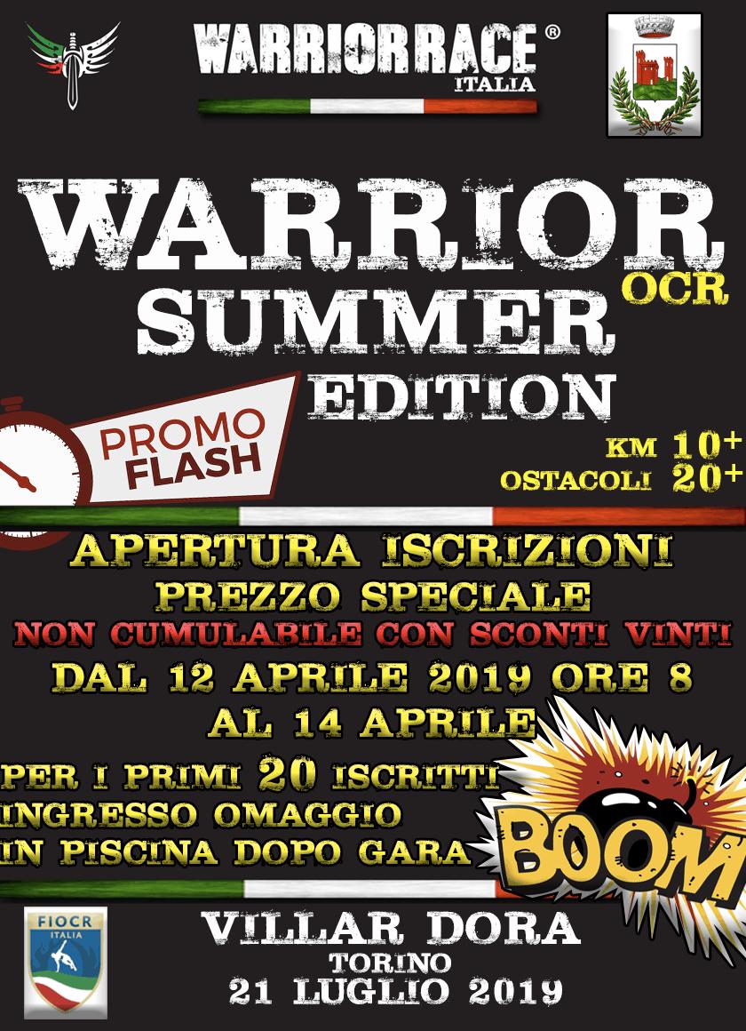 WARRIOR SUMMER – APERTURA ISCRIZIONI!